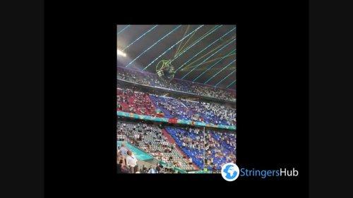 Euro 2020: Greenpeace protestor parachutes into Allianz Arena Stadium in Munich