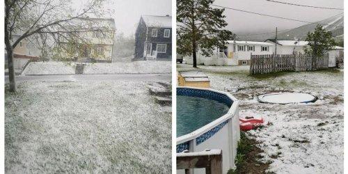 Après la canicule, des Québécois se réveillent sous la neige ce jeudi (PHOTOS)