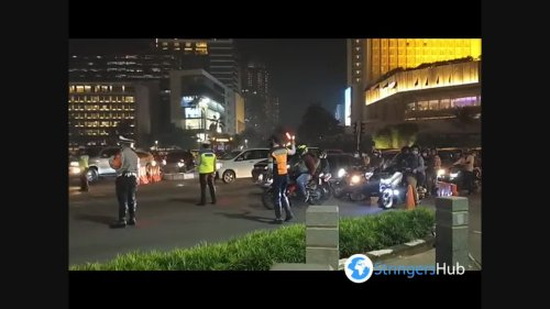 Situation in Jakarta at the Night of Takbiran ahead of Eid al-Fitr 1442 H