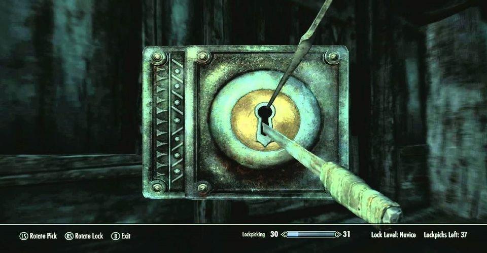 Skyrim Player Has Genius Way to Level Up Lockpick Skill