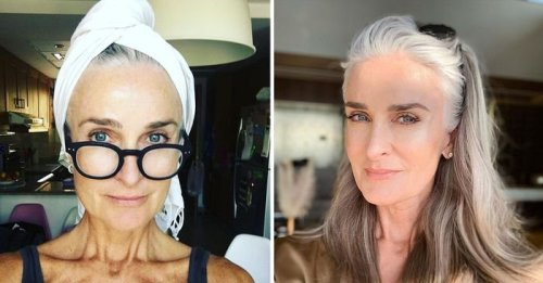 This 56-year-old model looks a decade younger—these are her skincare secrets
