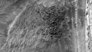 A Field of Ice Blocks on Mars Captured on Camera!