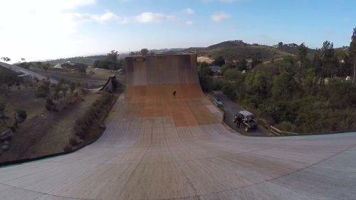 Skater Pulls Off Impressive Rail Grind