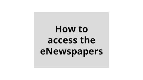 How to access eNewspapers | Daily Press