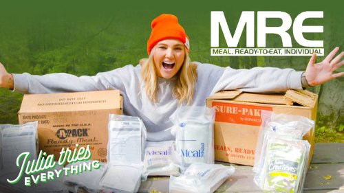 Julia Tries ALL Of The Most Popular MREs | Delish