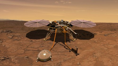 Watch NASA's Mars Lander Clean Itself Using... Sand