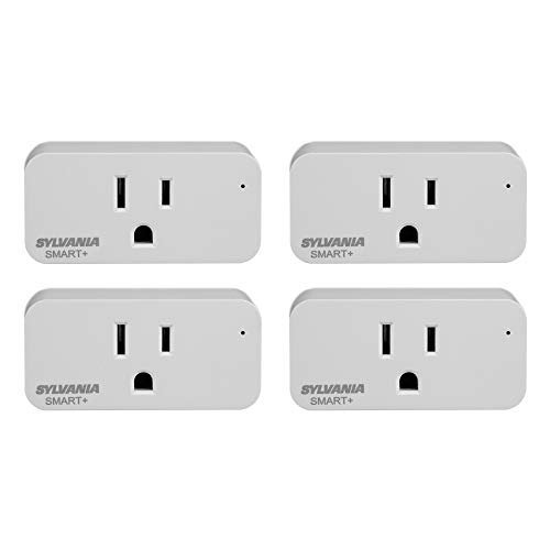 Pack of four smart WiFi plugs compatible with Alexa and Google Assistant