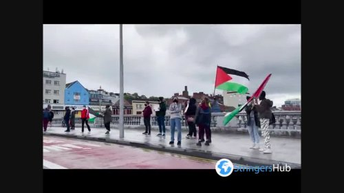 Free Palestine rally in Cork, Ireland