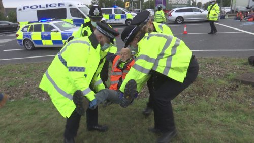 Retired doctor arrested at Insulate Britain protest