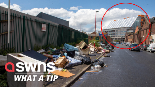 Furious residents slam fly-tippers as rubbish is dumped next to a new £900 million hospital (RAW)