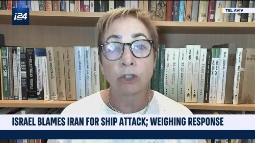 Israel blames Iran for ship attack, weighs response