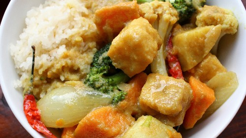 Vegan Sweet Potato Curry Has A Little Something For Everyone