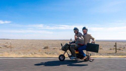 Watch These Two Dummies Recreate The Dumb And Dumber Mini Bike Road Trip
