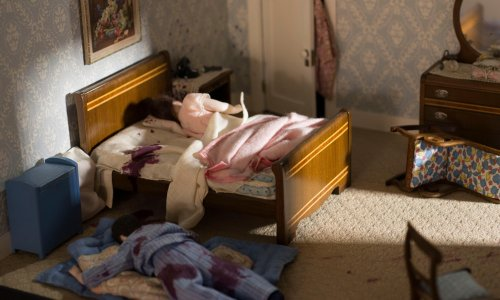The art of murder: miniature dioramas of unexplained deaths – in pictures