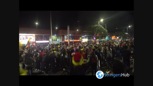 Artistic anti-government protests in Bogota, Colombia 1