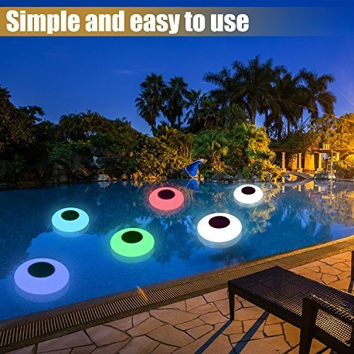 Colorful solar powered floating swimming pool light with remote control