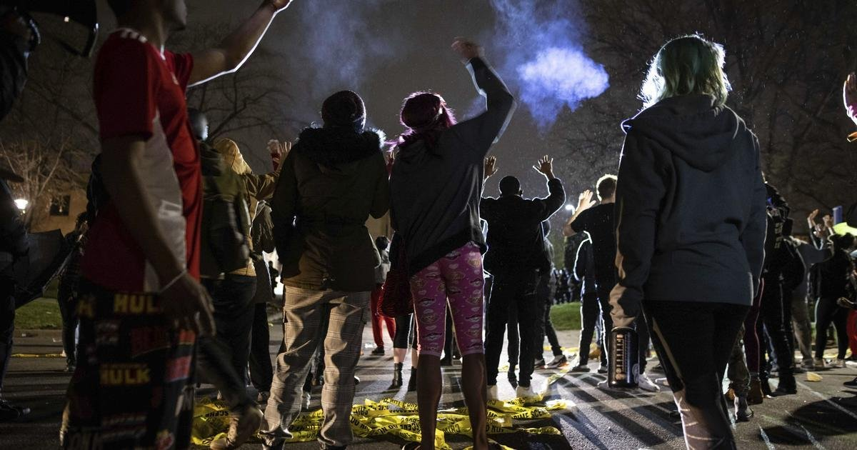 Protests erupt in Minneapolis suburb after man shot dead by police