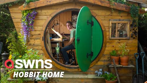 Fantasy fan fulfils childhood dream by building a 'Hobbit house' in his garden!