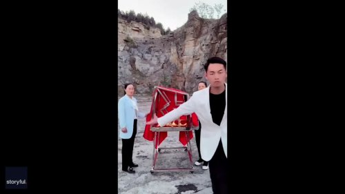 Chinese Magician Reveals How Partner's Trick Was Done