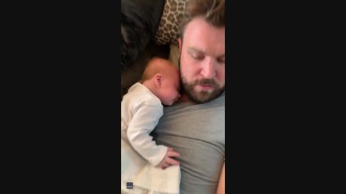 Baby Girl Cannot Get Enough of Dad's Scratchy Beard