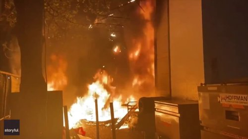 Firefighters Work to Extinguish Blaze as Riot Declared in Portland