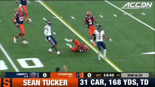 Syracuse RB Sean Tucker Runs For Another Big Game
