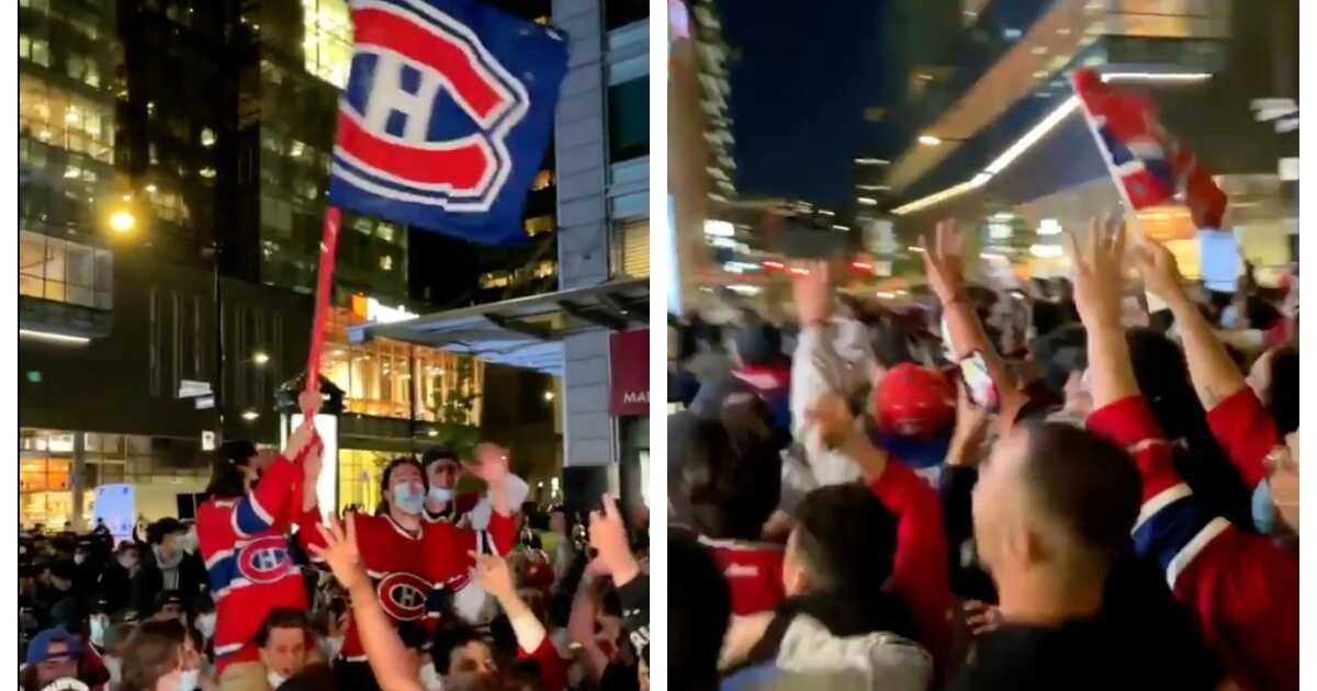Here's What Montreal Looked Like After The Habs Beat The Leafs On Monday (VIDEO)