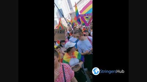 LGBT pride parade held in Warsaw, Poland 1