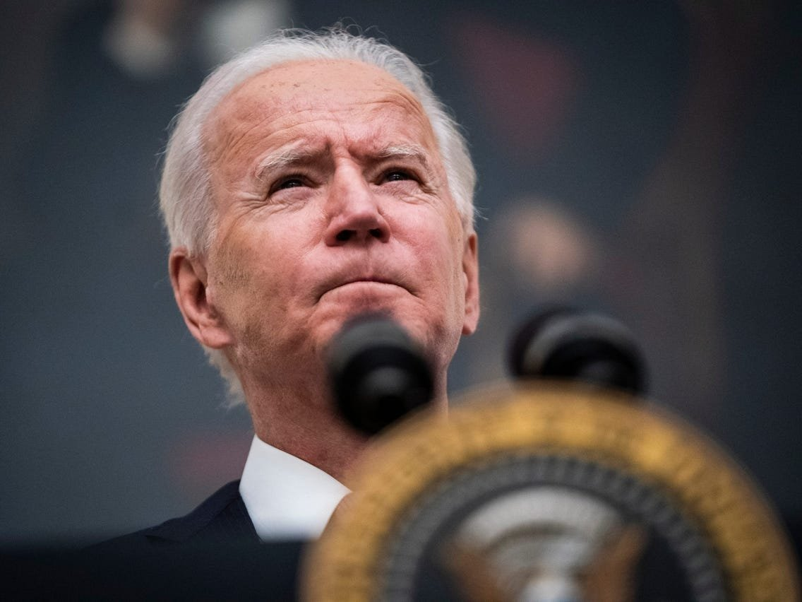 Biden says he wants a 28% corporate tax rate because he's 'sick and tired of ordinary people being fleeced'