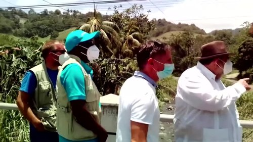 Caribbean volcanic eruption leaves path of destruction