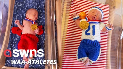 US hospital presents newborns with hand-crocheted gold medals and adorable Team USA outfits