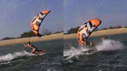 Kitesurfing close call in Lamu Island, Kenya