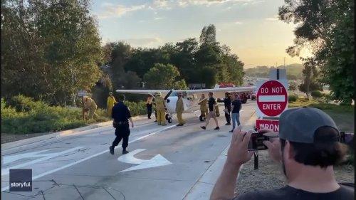 Plane Makes Emergency Landing on Busy Californian Freeway