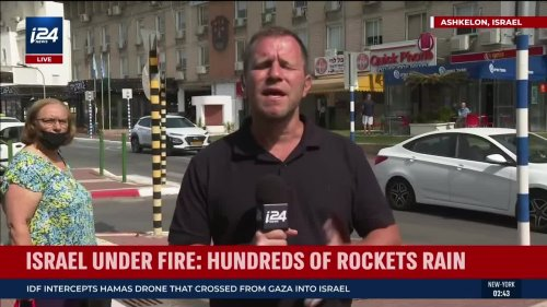 Israel Under Fire: Hundreds of Rockets Rain
