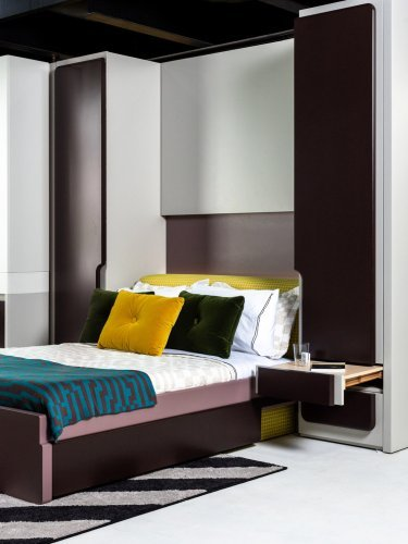 This clever Murphy bed creates a guest-room nook where there isn't one
