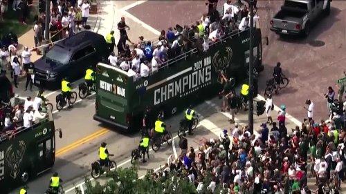Milwaukee holds victory parade for NBA Champion Bucks