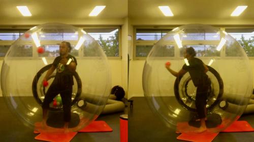 'Spaniard Puts on a Stellar Juggling Show Inside a Bubble Ball'