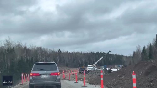 Heavy Flooding Washes Out Part of Trans-Canada Highway in Newfoundland