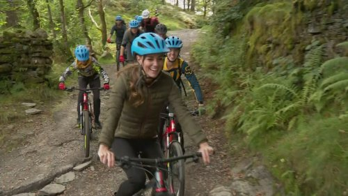 Kate rides mountain bike and abseils in Lake District