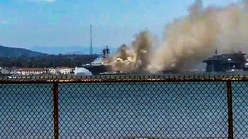 '32nd Street Naval Station: Destructive Fire Wreaks Havoc Aboard USS Bonhomme Richard'