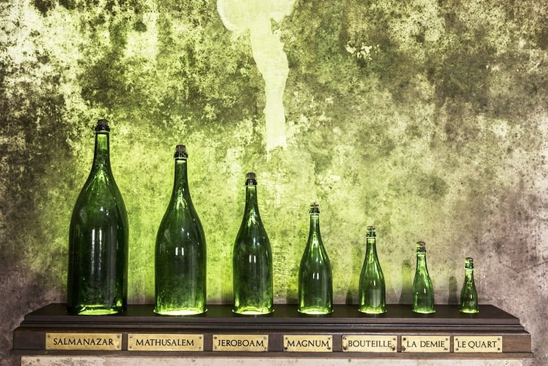 WHAT ARE THE 15 CHAMPAGNE BOTTLE SIZES CALLED?