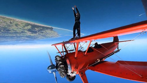 Going For A Little Walk On The Wing Of A Biplane