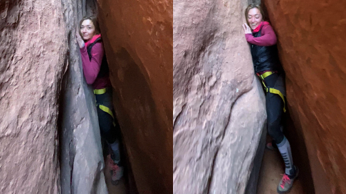 'Woman Escapes Slot Canyon in Moab, Utah'
