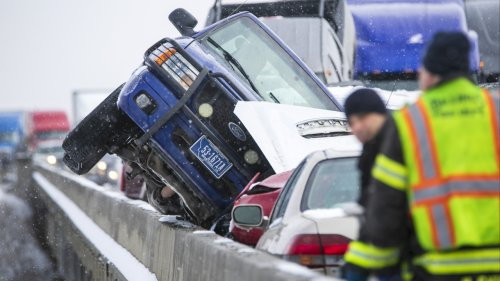 2 Leap From Bridge In 'Bumper Car' Pileup On Icy Montana Highway