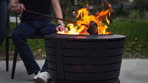 Stainless low smoke fire pit
