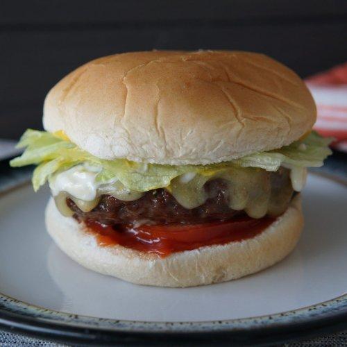Air Fryer Hamburger and Fries
