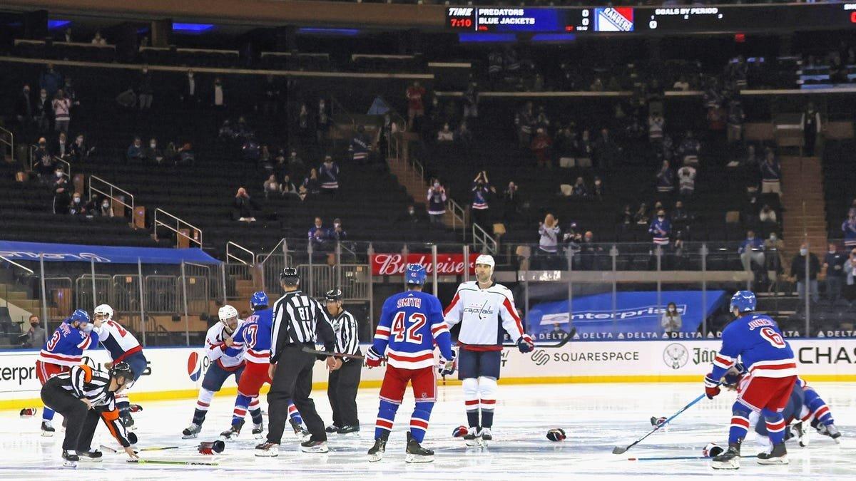 Huge Brawl In Rangers Vs Caps