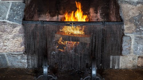 The Easiest Hack You Need To Clean Stone Fireplaces