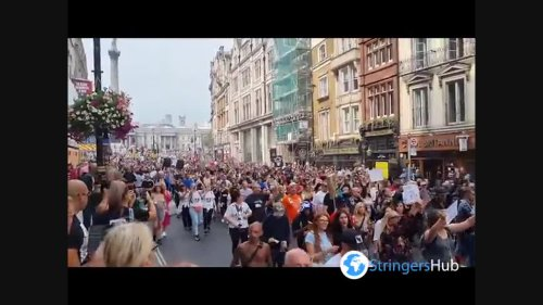 UK: Hundreds attend 'freedom' rally in downtown London