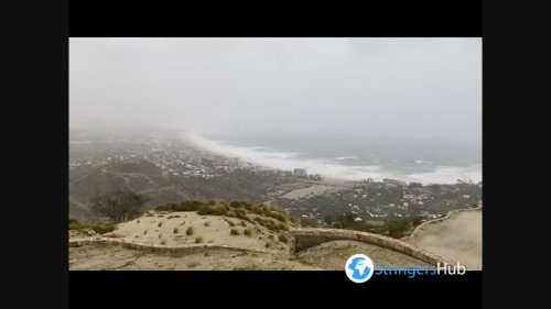 Hurricane Olaf makes landfall in Mexico near tourist area, San José del Cabo, BCS, Mexico 2
